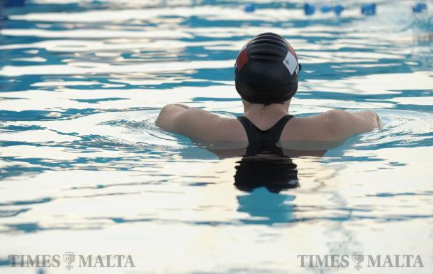 Vladyslava Kravchenkowill practices her breathing technique during a training session at the National Pool in Tal-Qroqq on August 26 in preparation for the Paralympic Games in Rio. The 25-year-old will be competing for Malta as the country's first ever female swimmer at the Games and the first female Paralympian representing the country since 1980. A former gymnast, Ms Kravchenko suffered a spinal cord injury after a lighting structure fell on her during a party in Qawra back in September 2008. Photo: Matthew Mirabelli