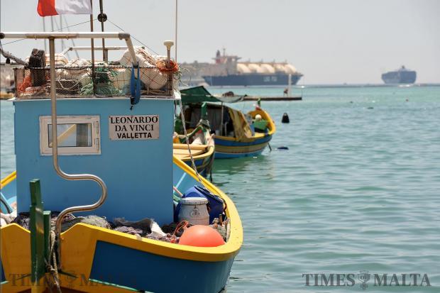 A fishing boat in Marsaxlokk on June 1. Photo: Chris Sant Fournier