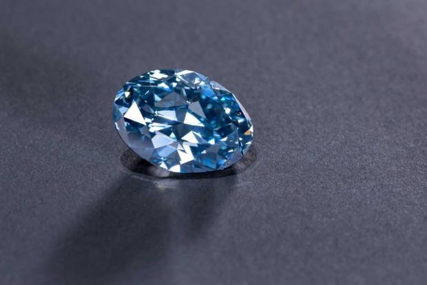 The polished stone has been named the Okavango Blue.