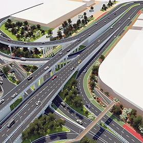 An artist's impression of the Marsa flyover project.