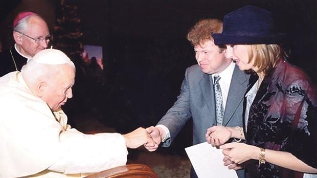 Babailov meeting St John Paul II.