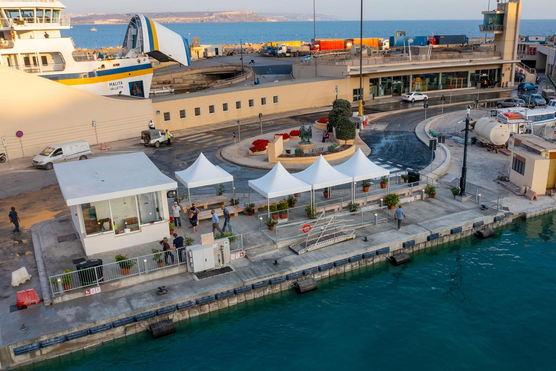 The terminal at Mgarr harbour (Infrastructure Malta).