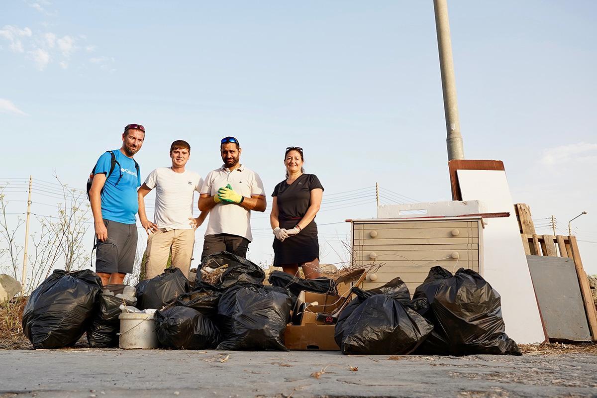 During their Giving Back Fridays initiative (from left): Eman Azzopardi, Steve Zammit Lupi, John Chircop and Marianna Micallef Grimaud. Photo: Steve Zammit Lupi