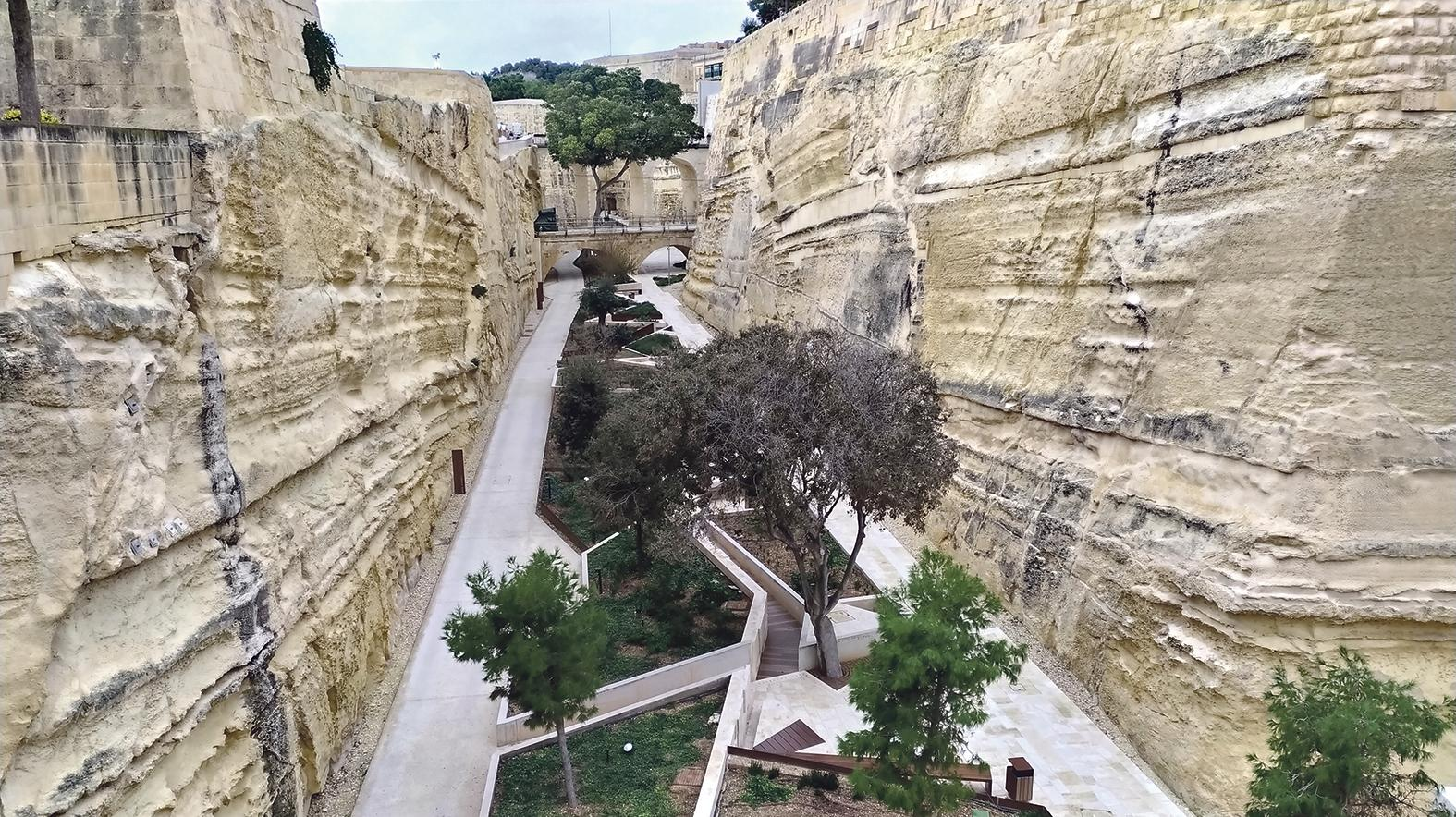 Ġnien Laparelli in Valletta, designed by the Grand Harbour Regeneration Corporation (GHRC) in collaboration with the Restoration Directorate.