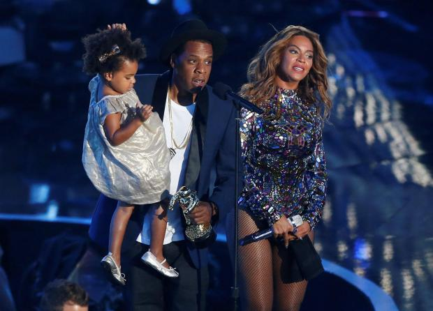 Beyonce, Jay-Z and their daughter Blue Ivy. Photo: Reuters
