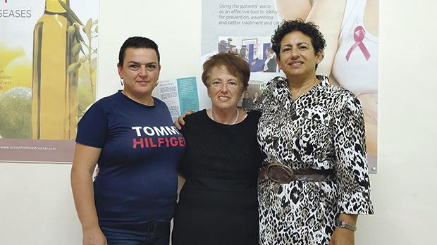 From left, Lorraine Vella, Mary Vella and Esther Sant