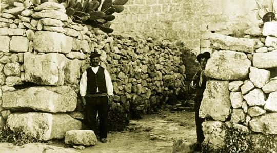 Megalithic remains create a sturdy corner in a dry-stone wall in Xewkija of yore. This photo forms part of an exhibition on the techniques employed in the building of rubble walls being held tomorrow in Victoria as part of the Lejlet Lapsi Notte Gozitana festival this weekend.