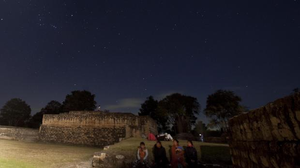 People gather at Iximche archeological site in Tecpan, Guatemala. Photo: Moises Castillo, AP