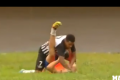 Watch - Ball boy suffers barrage of blows for celebrating a goal