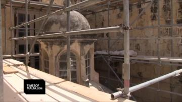 Jesuits church, old university facade getting much-needed restoration