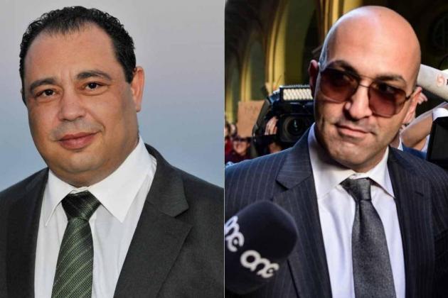 Silvio Valletta (left) and Yorgen Fenech.