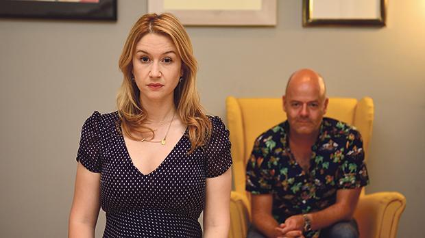Actors Jo Caruana and Alan Paris in De-terminated. Photo: Mark Zammit Cordina