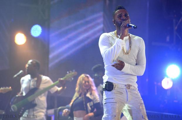 MTV headline act Jason Derulo performs his first song during the Isle of MTV Concert on the Granaries in Floriana on July 7. Photo: Matthew Mirabelli
