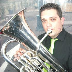 Bjorn Callus, 26, plays the euphonium. Source: Facebook