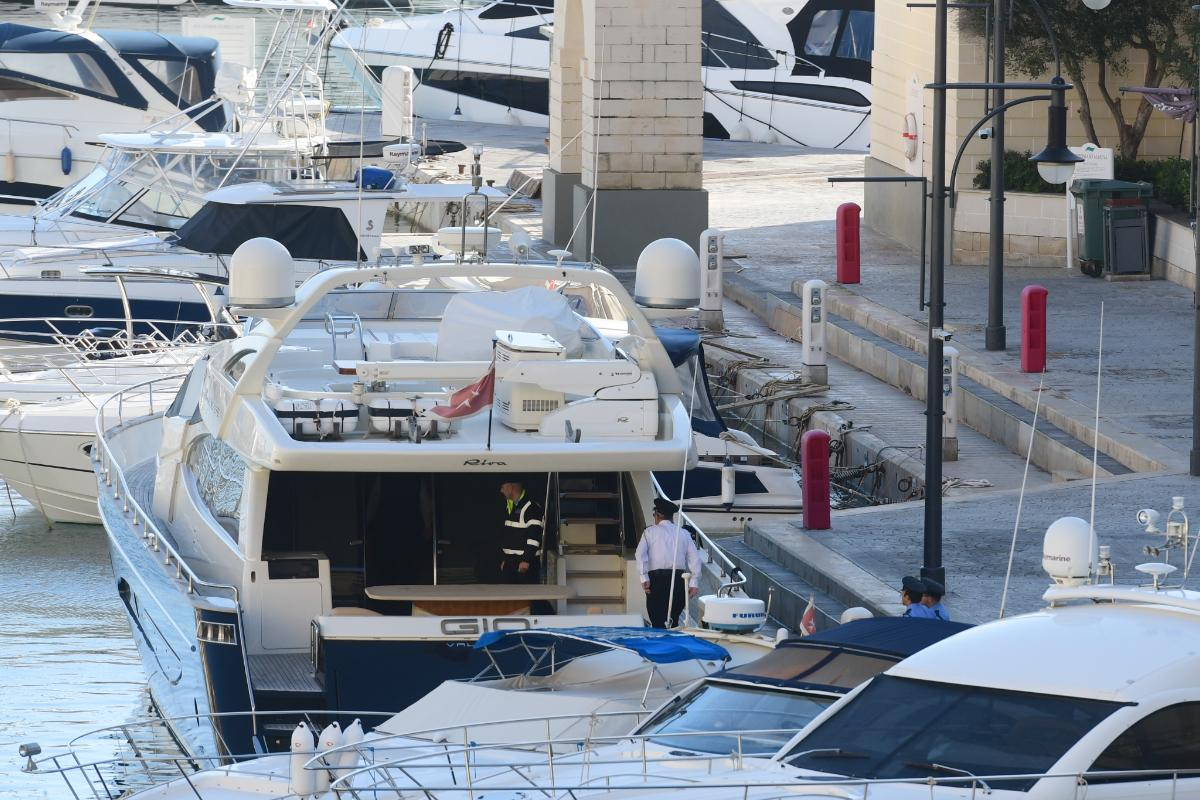Yorgen Fenech was arrested on board his yacht, Gio, in November 2019. Photo: Jonathan Borg