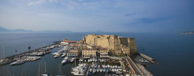 The view from the Grand Hotel Vesuvio.
