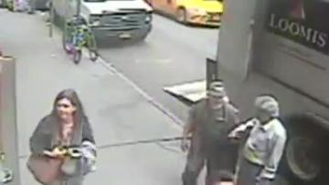 NY pedestrian grabs pot of gold off armoured truck