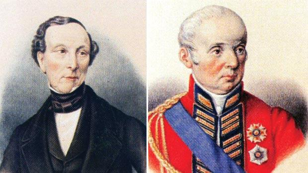 Sir Richard O'Ferrall. Right: Sir Thomas Maitland.