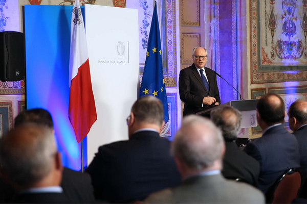 Finance Minister Edward Scicluna speaking during the launch of the NCC last April.