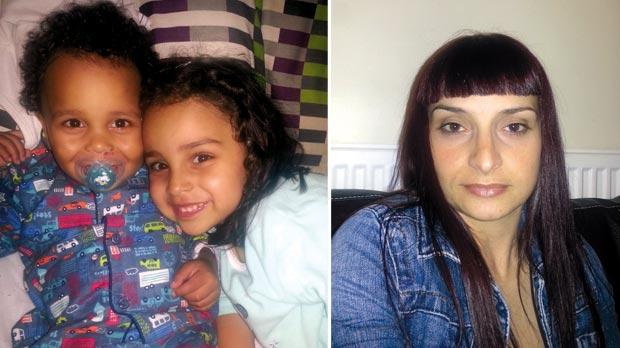 Zakaria (left) and his sister Aisha. Photo: The Firm Solicitors. Right: Priscilla Micallef. Photo: PA