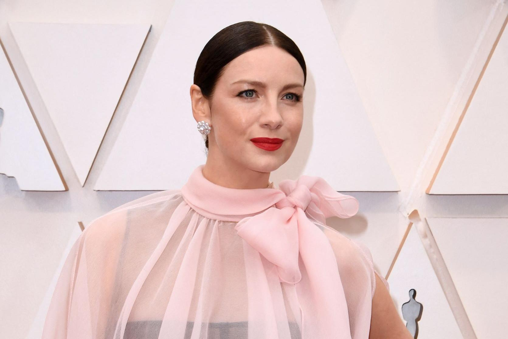 Irish actress Caitriona Balfe also stars in the film. Photo: Robyn Beck/AFP