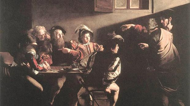 Caravaggio's Calling of St Matthew depicts the moment when Jesus calls Matthew, a tax collector, considered to be among the worst of people, to become a disciple and follow him. Photo: Wikicommons
