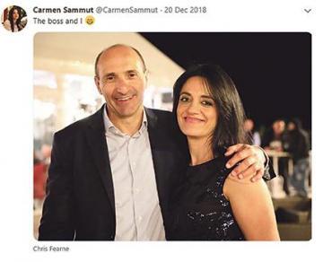 Health Minister Chris Fearne with Carmen Sammut.