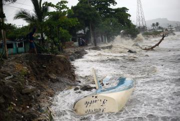 The devastation along the coast of the Dominican Republic. Photo: Reuters