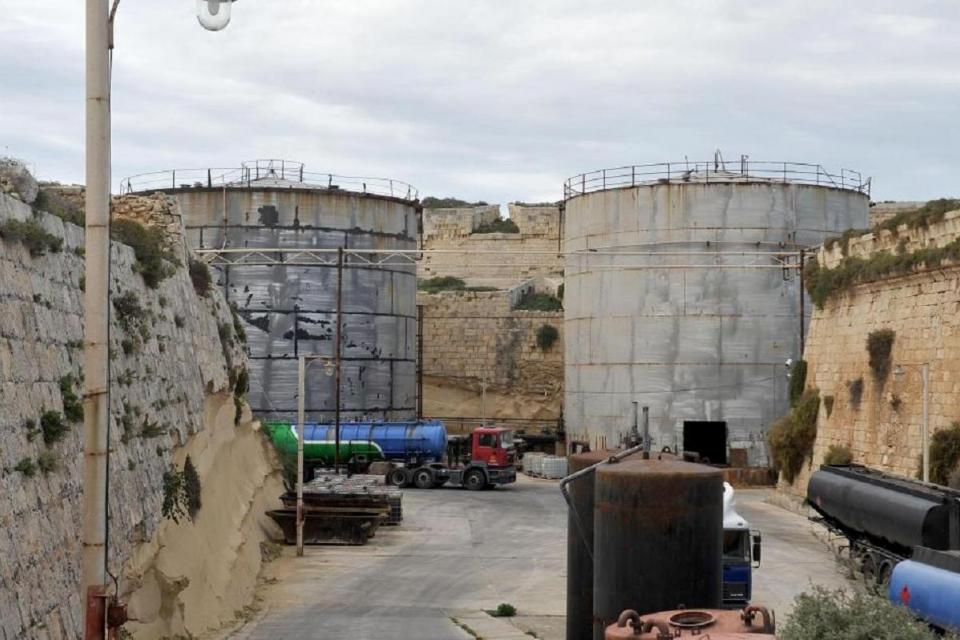 The fuel tanks at Fort Ricasoli.