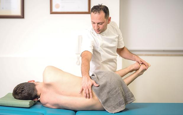 Osteopath Robert Grech says working on the body's structure and maximising its efficiency will increase the body's ability to heal itself. Photo: Fritz Photography