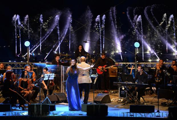 Singer Claudia Faniello performs on stage at Smart City during a concert held to mark the closing of Malta's Presidency of the European Council on June 30. Photo: Matthew Mirabelli