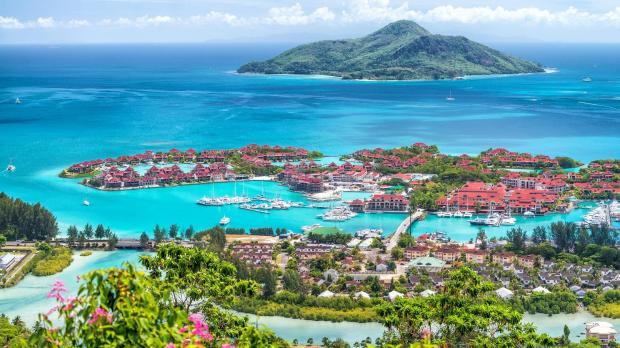 Reclaimed land in the Seychelles. Photo: Shutterstock.