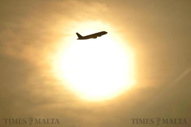 An airliner passes in front of the sun on October 26. Photo: Chris Sant Fournier