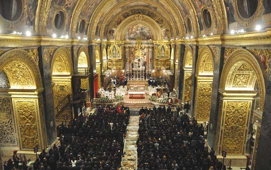 Graduates gathered in St John's Co-Cathedral, in Valletta for a thanksgiving Mass this week.