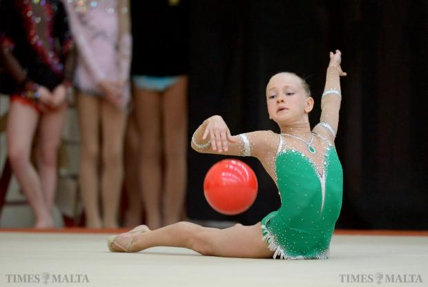 A young gymnast in full flow during the 1st Spring Cup International Competition held at Tarxien on May 10. The competition saw 40 gymnasts from five countries taking part in an event organised by Club Ritmica in collaboration with GymStars and supported by Hydrolectric Limited. Photo: Matthew Mirabelli