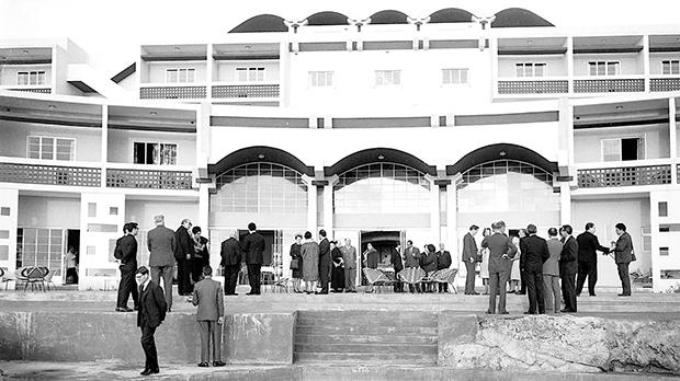 Paradise Bay Hotel inauguration, designed by Richard England. Photo: DOI