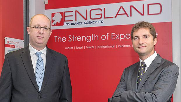 From left, William and Peter England, directors of England Insurance Agency.