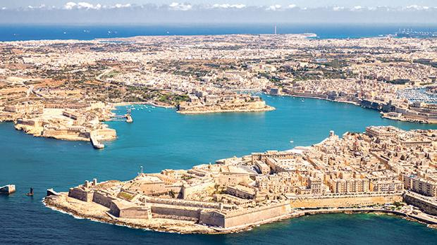 The 2019 Budget for local government was increased by nearly €7 million, the highest increase ever. This aerial view of Malta shows several towns: Valletta, Kalkara, Senglea and Vittoriosa, with Marsaxlokk in the background.