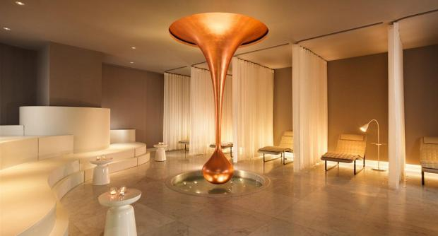 The 'teardrop' sculpture for the Mondrian Hotel Spa (a collaboration with renowned designer Tom Dixon) is one of Mizzi Studio's most famous designs to date.