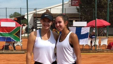 Members of Team Malta at the Fed Cup.