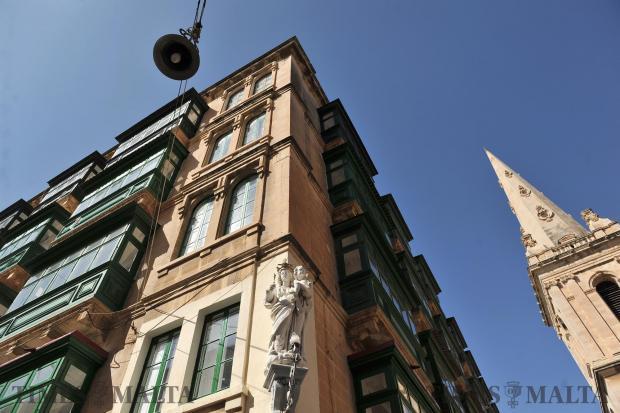 A Valletta apartment block on March 1. Photo: Chris Sant Fournier