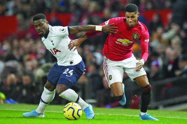 Rashford strikes twice as Man. Utd end Mourinho's perfect start at Spurs