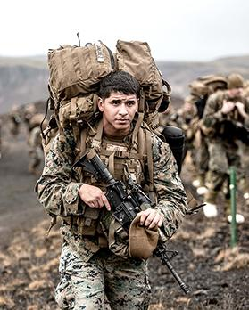 US Marines with the 24th Marine Expeditionary Unit (MEU) conduct cold weather training.