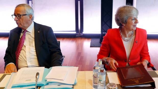 Jean-Claude Juncker and Theresa May.