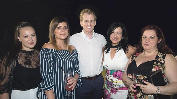 Jasmine Tabone, Beverley Spiteri, HSBC Bank Malta CEO Andrew Beane, Lorraine Zammit and Elizabeth Cardona.