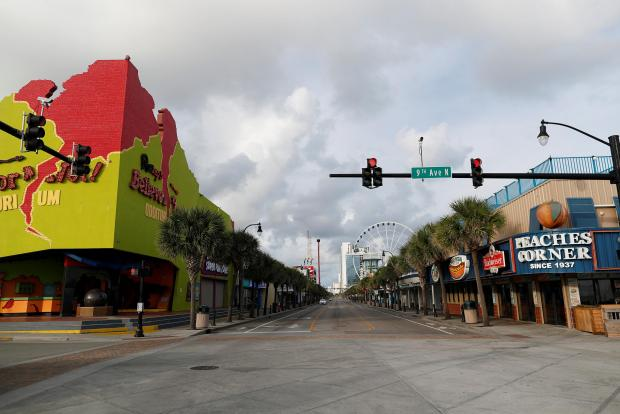 Mandatory evacuations left towns empty.
