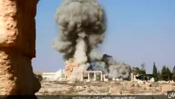 Islamic State shows images of ancient Syrian temple destruction