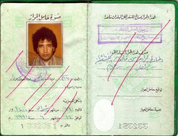 Passport of convicted Abdelbaset Al-Megrahi.