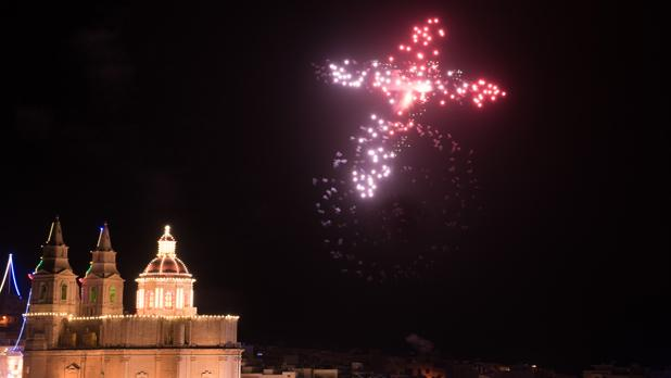 Fireworks display in Mellieħa. Photo: Steve Congrave