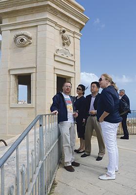 MSA president Jonathan Galea with Chinese Ambassador Jiang Jiang and US Ambassador G. Kathleen Hill. Photo: S. Mugliett
